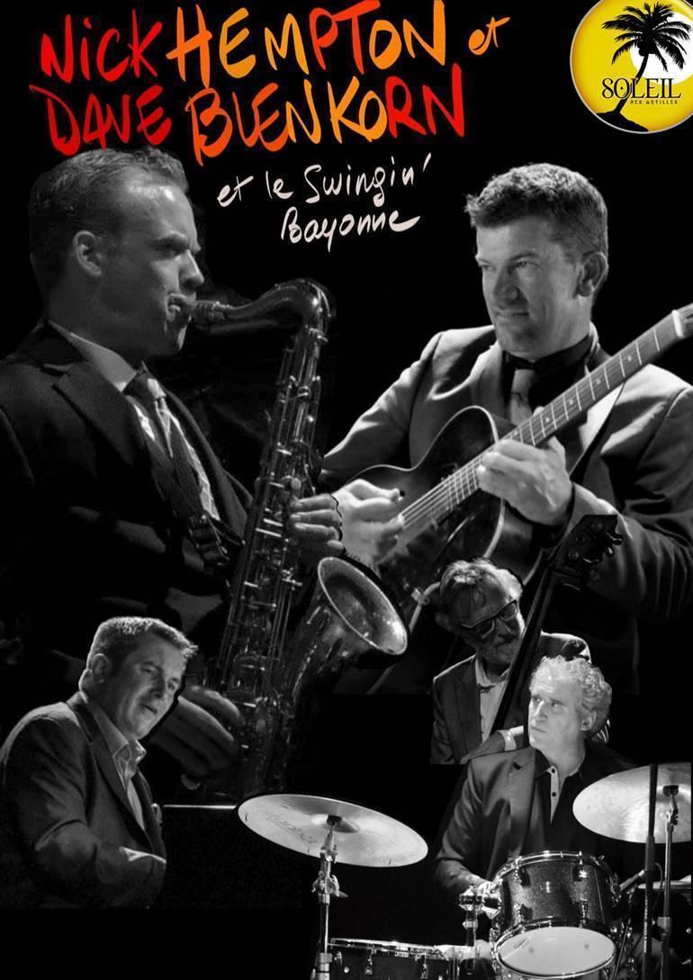 Bidart: jazz avec Nick Hempton, Dave Blenkhorn et le Swingin'Bayonne au Soleil des Antilles
