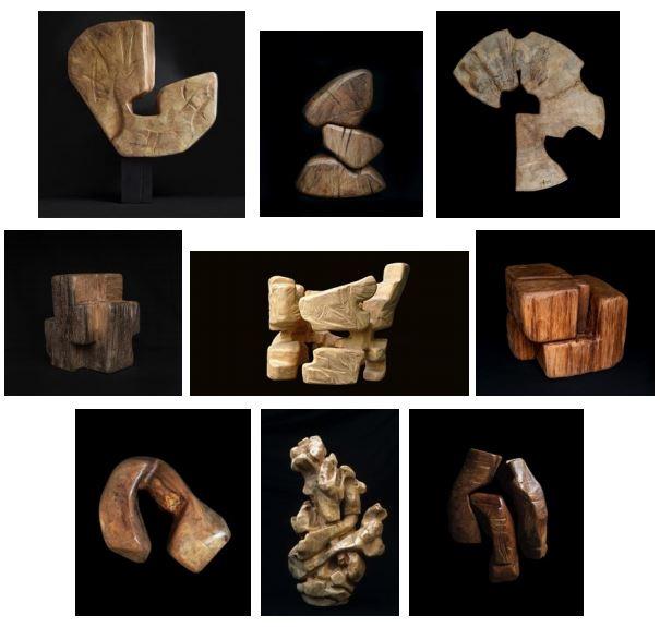 Sculptures de Zigor présentées au Bellevue.JPG