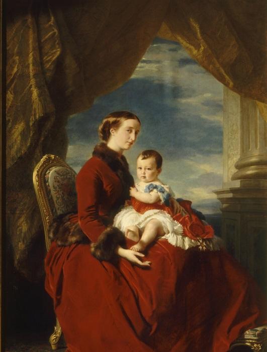 1857 Impératrice et le prince impérial par Winterhalter.jpg