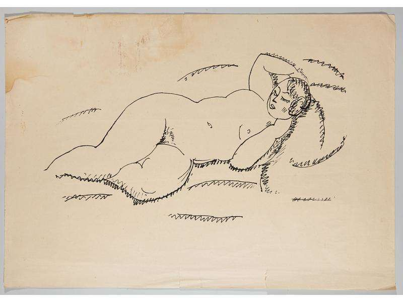 La Femme nue allongée par Alexej von Jawlensky