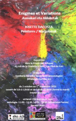 Les notes colorées des « variations » de Josette Dacosta