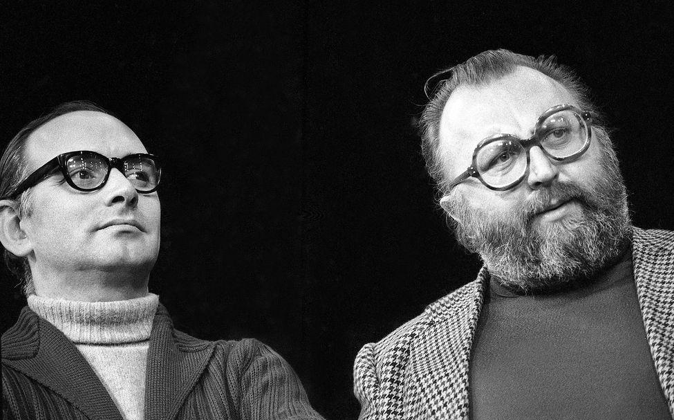 zCinéma1 Ennio Morricone et Sergio Leone, 1974 c Monier.jpg