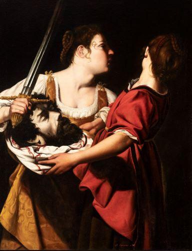 Judith et son serviteur avec la tête d'Holopherne (ch. 1605-1612)Orazio Gentileschi.JPG
