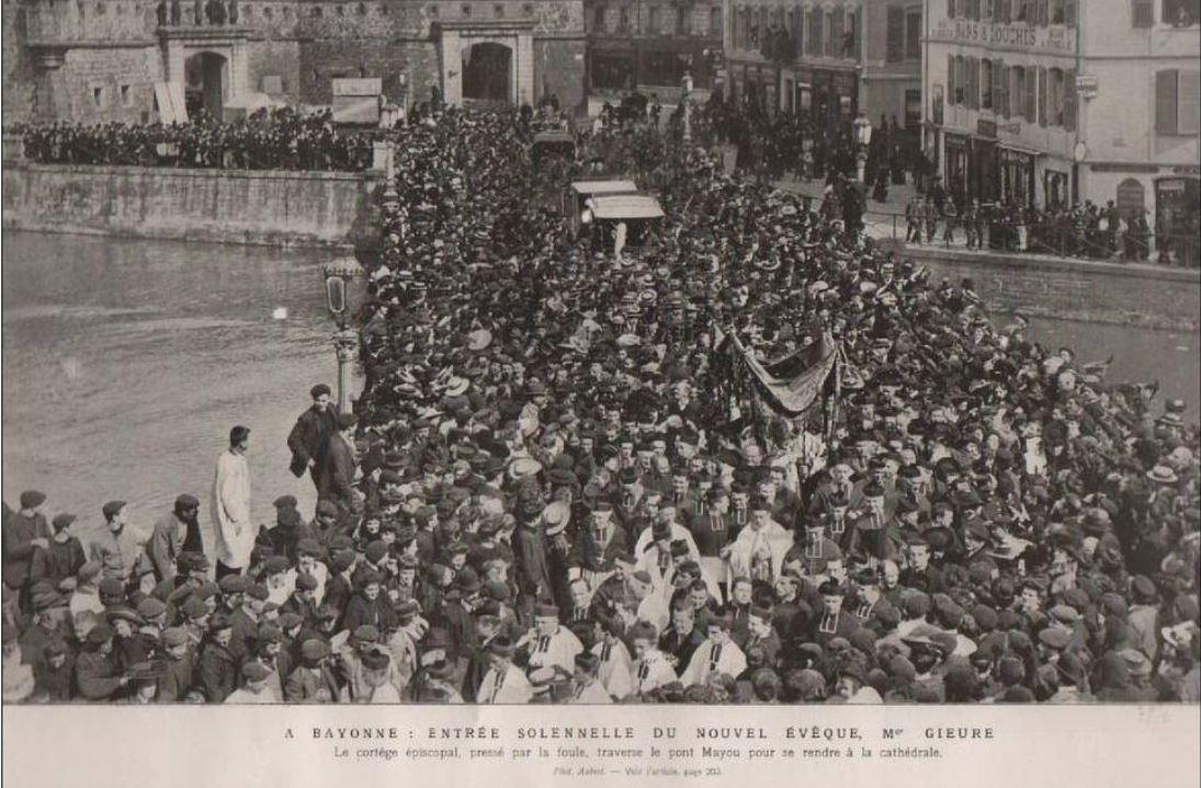 L'arrivée de Mgr Gieure en 1906 à Bayonne