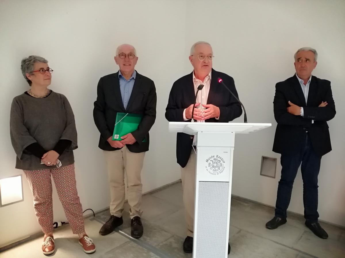 Olivier Ribeton, rénovateur et conservateur en chef du Musée Basque tourne une page de son histoire