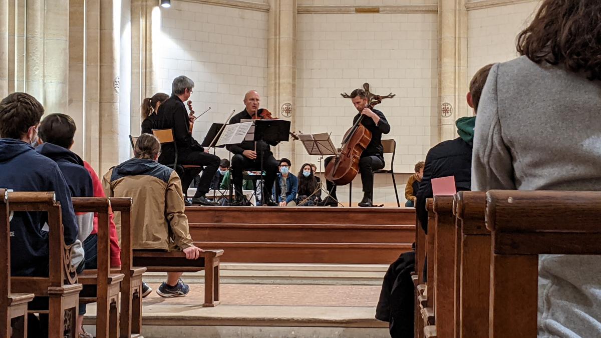 Le concert du Quatuor Arnaga à l'Ecole Sainte-Geneviève