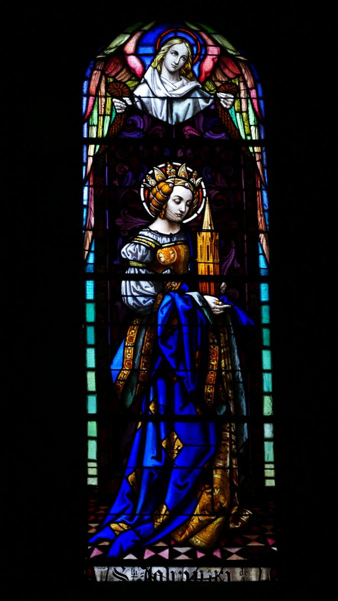 Vitrail de Sainte Jeanne réalisé par Mauméjean 1920.jpg
