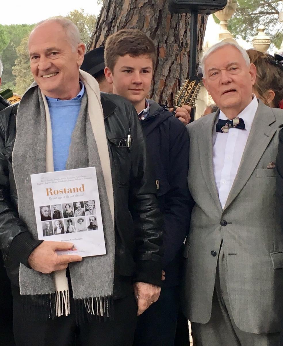 Inauguration de la tombe avec Thomas Sertillanges et le jeune Alexis Rostand  le 30 mars 2017 ©L.Gentili.jpg