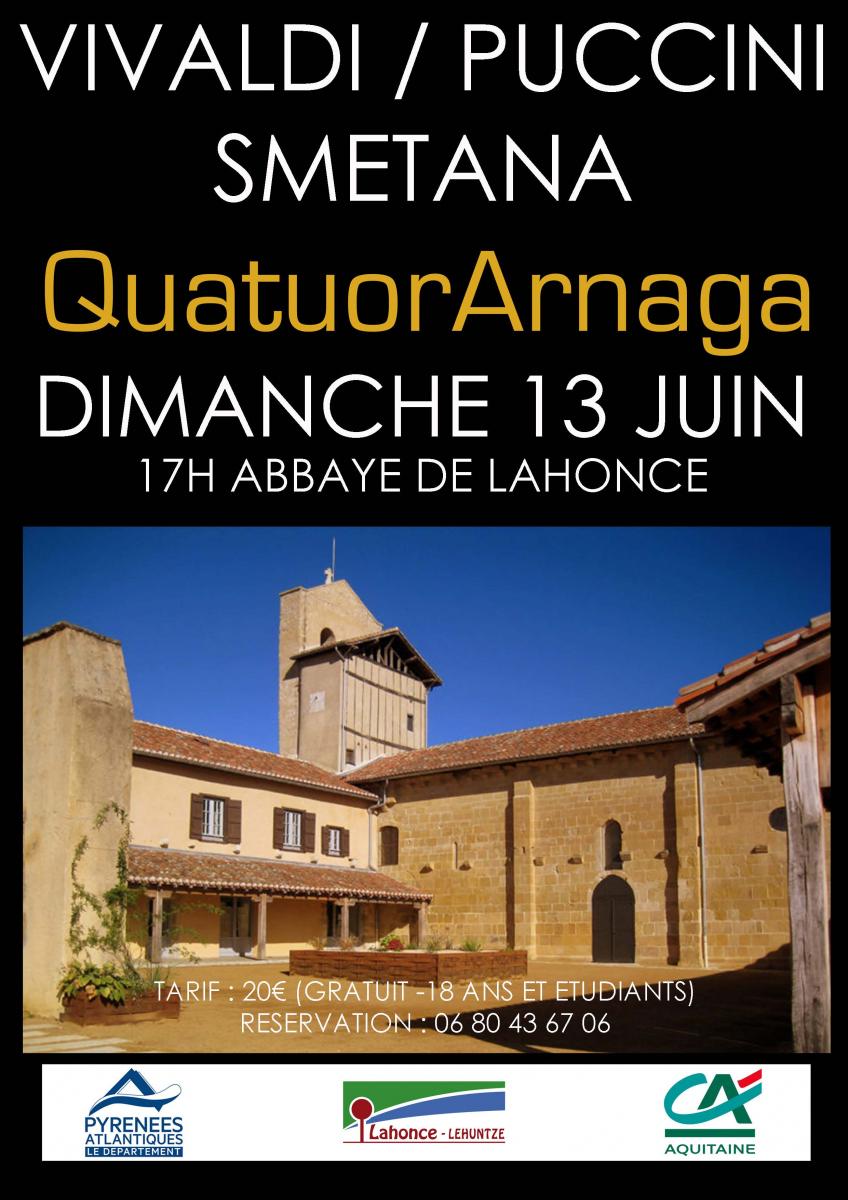 Quatuor Arnaga : le patrimoine en musique à l'Abbaye de Lahonce