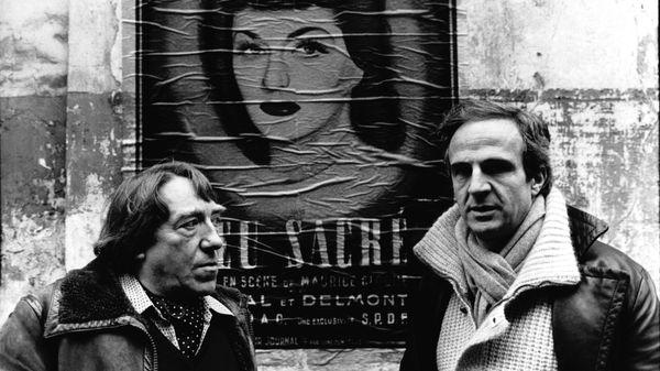 zMusique1 Georges Delerue avec Francois Truffaut sur le tournage du film Le Dernier Metro, octobre 1980.jpg