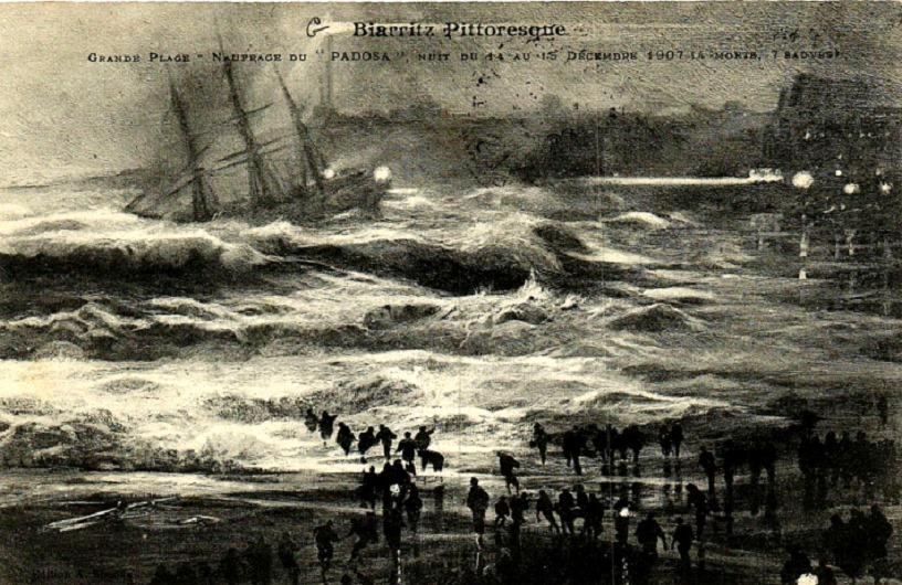 Biarritz, décembre 1907: le naufrage du «Padosa»