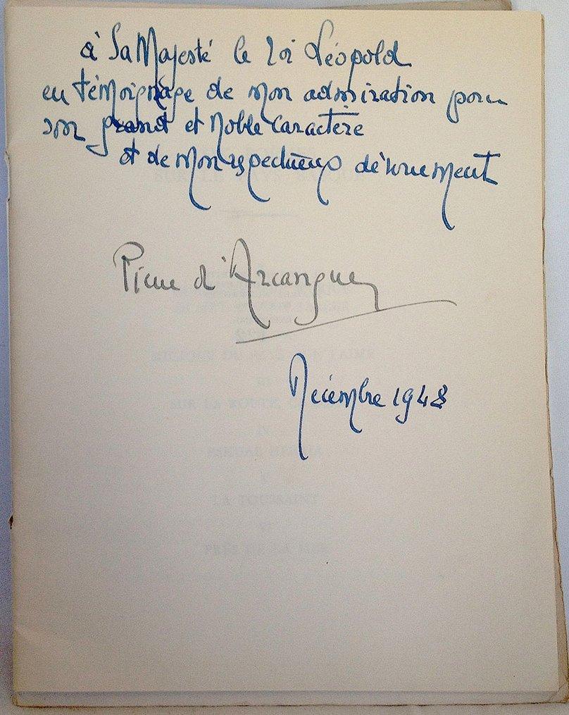 zPortrait Pierre d'Arcangues dédicace au roi Léopold.jpg