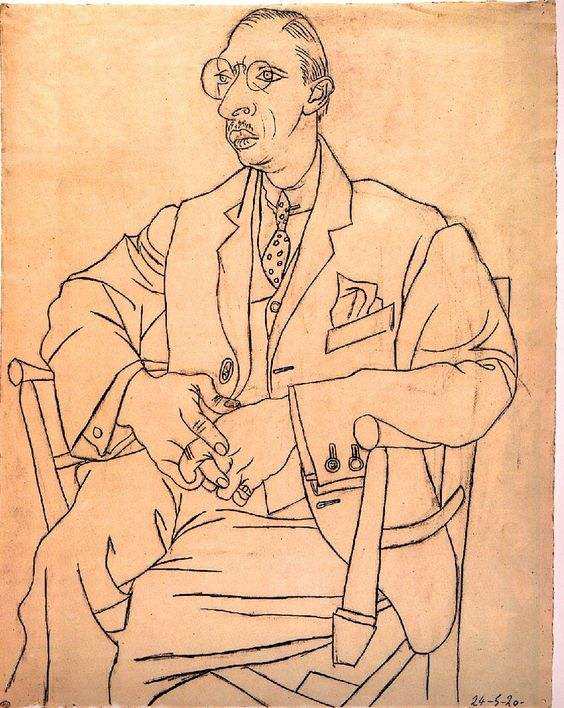Dessin de Stravinsky par Picasso (1920).jpg