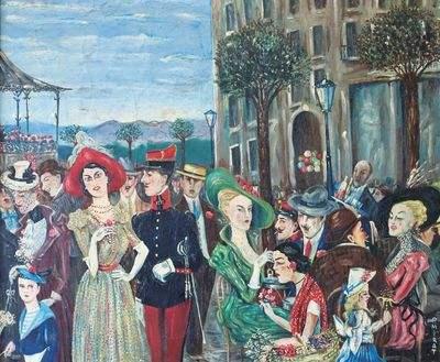 « jour de fête, Place Royale » par Paul Mirat