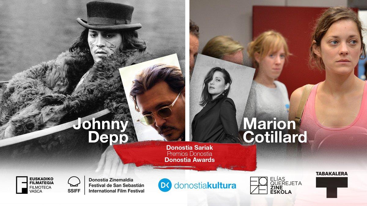 zCinema2 Saint-Sébastien le prix Donostia pour Marion Cotillard et Johnny Depp.jpg
