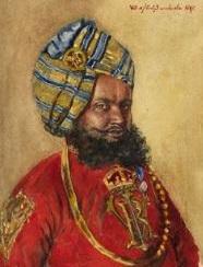 Portrait d'un maharadjah par le Reine Victoria.JPG