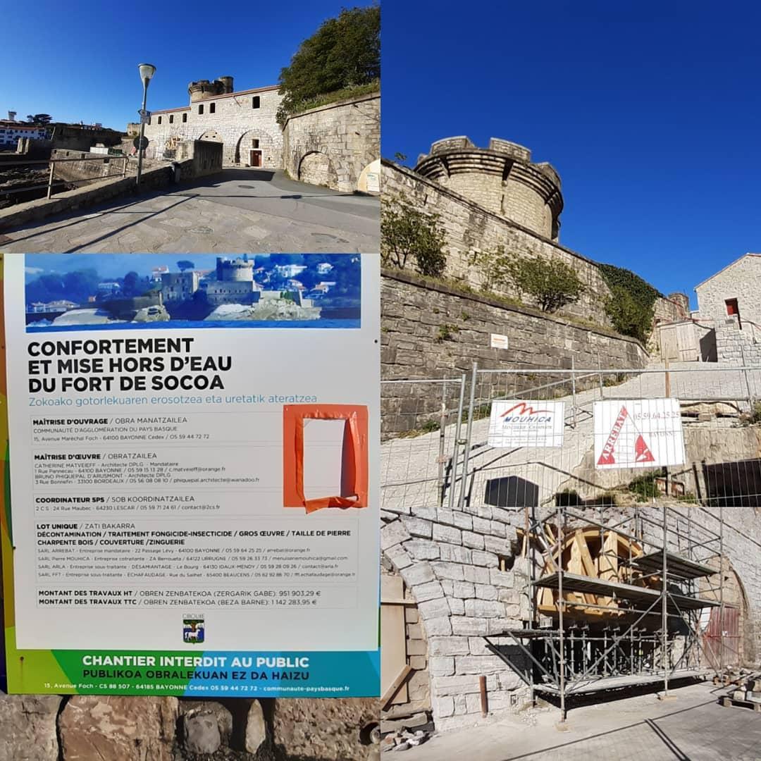 zHistoire1 Fort de Socoa : mise hors d'eau et confortement.jpg