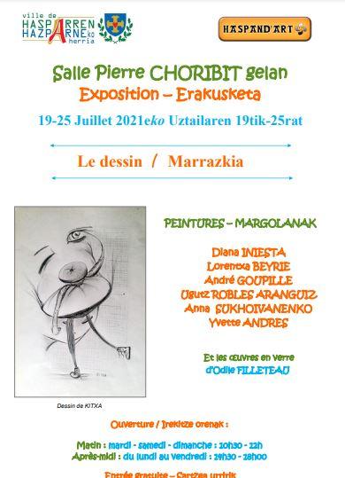 Dessin à Hasparren et stage d'aquarelle à Saint-Jean-de-Luz