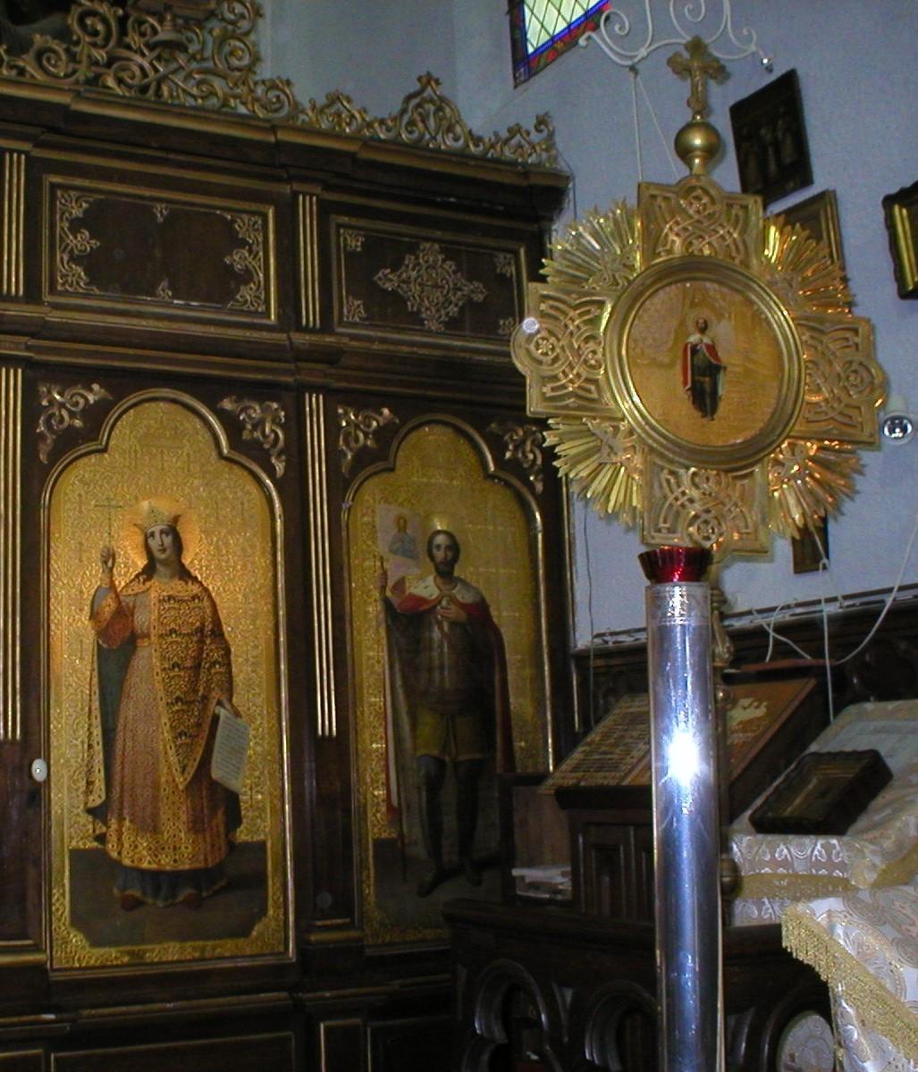 zTradition2 Eglise St-Alexandre Nevsky à Pau St Alexandre à droite de l'iconostase.jpg