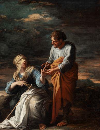 Juda et Tamar , ch. 1660 par Salvator Rosa.JPG