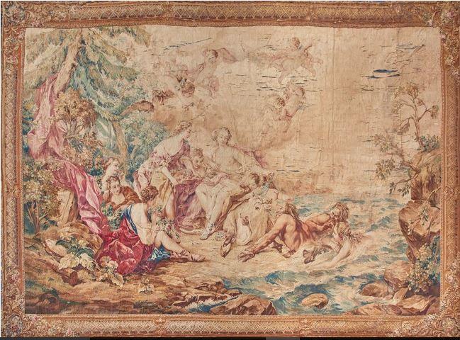 Aux enchères, l'excellence de la tapisserie de Beauvais d'après François Boucher