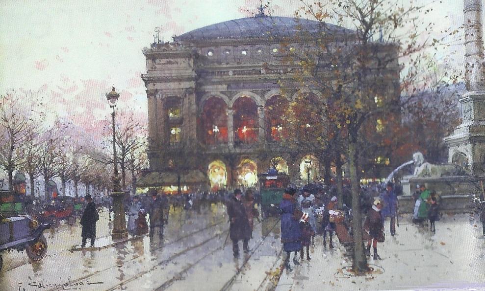 """""""Le théâtre du Chatelet"""" par Eugène Galien-Lalque"""