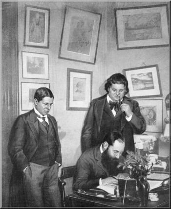 zMusique1 haut1 Albéric Magnard (debout, à gauche) en.jpg