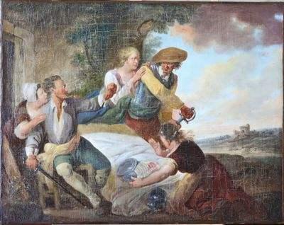 « Querelle à l'auberge » par Louis Joseph Watteau (XVIIème siècle)