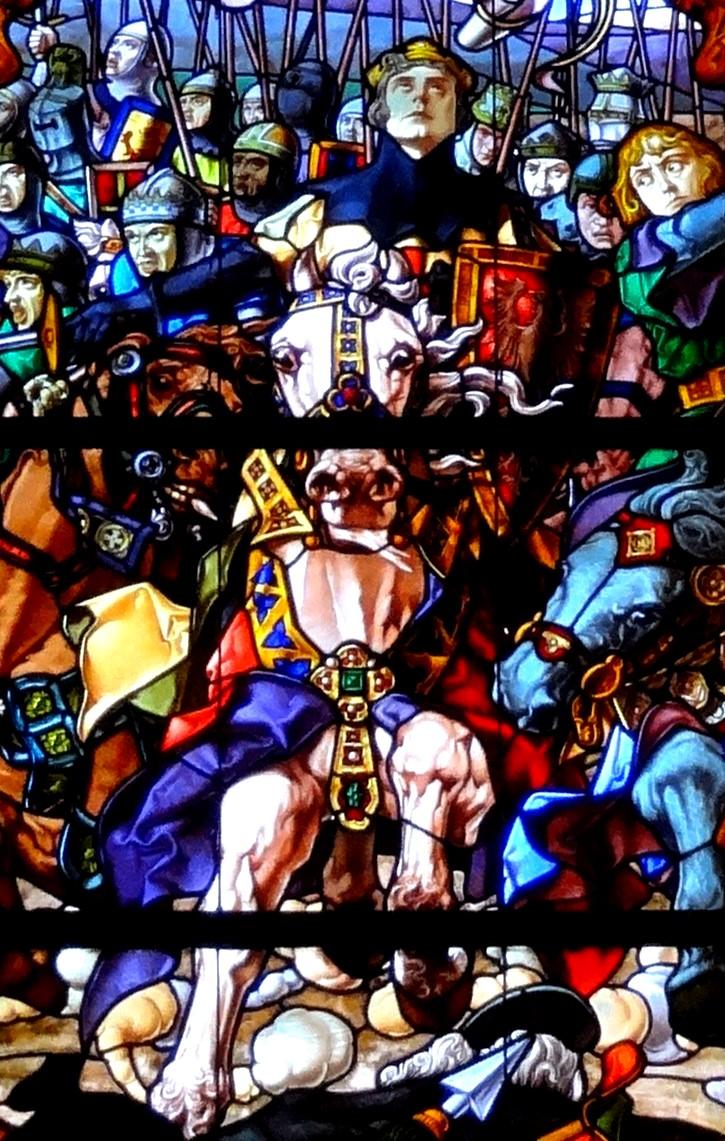 Sanche_VII_de_Navarre Détail du vitrail bataille Las Navas de Tolosa Roncevaux..jpg