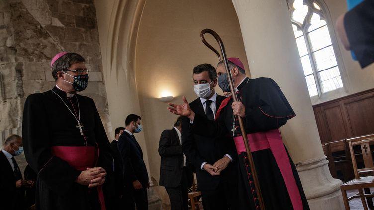 zActu2 Mgr de Moulins-Beaufort et le ministre de l'Intérieur Gérald Darmanin.jpg