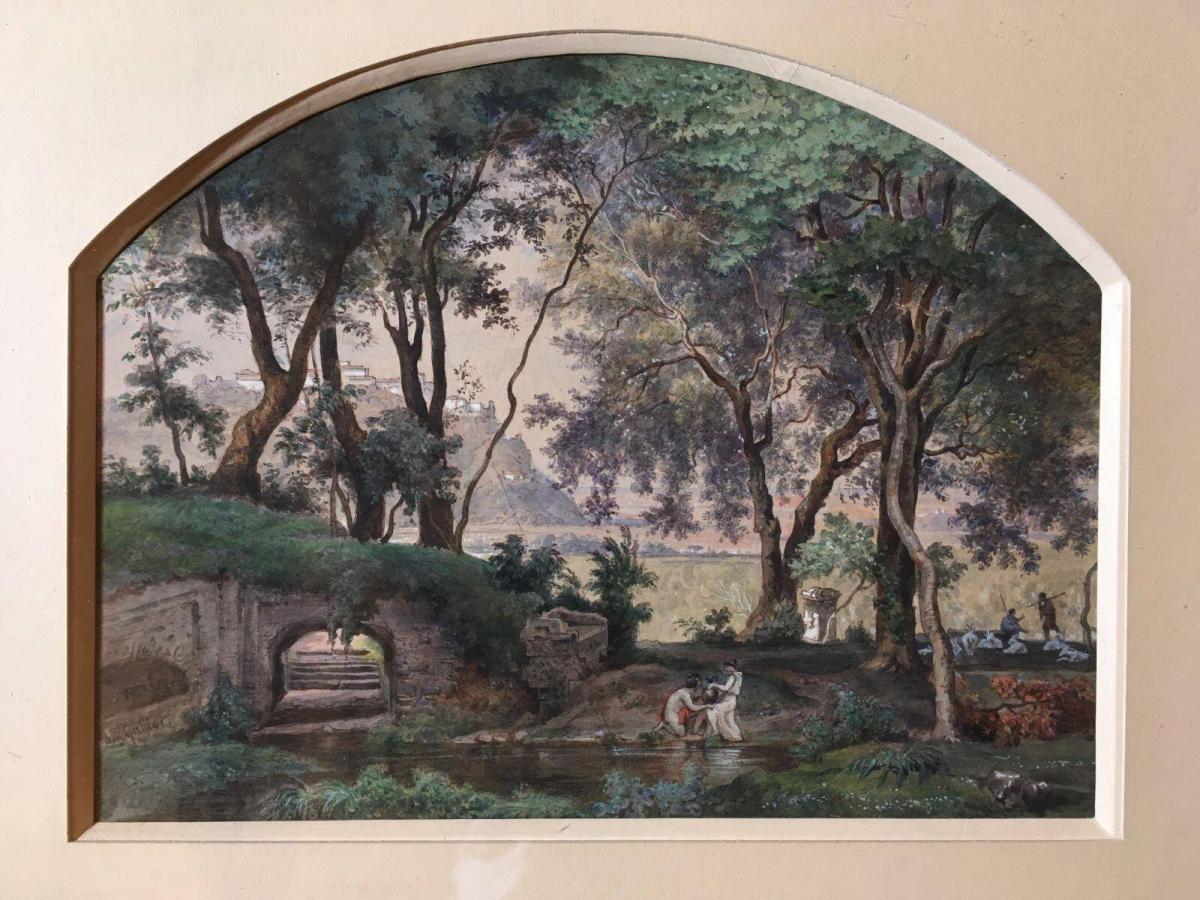 Achille Gratien Gallier (1814-1871), Paysage romain, vers 1840-1850.jpg