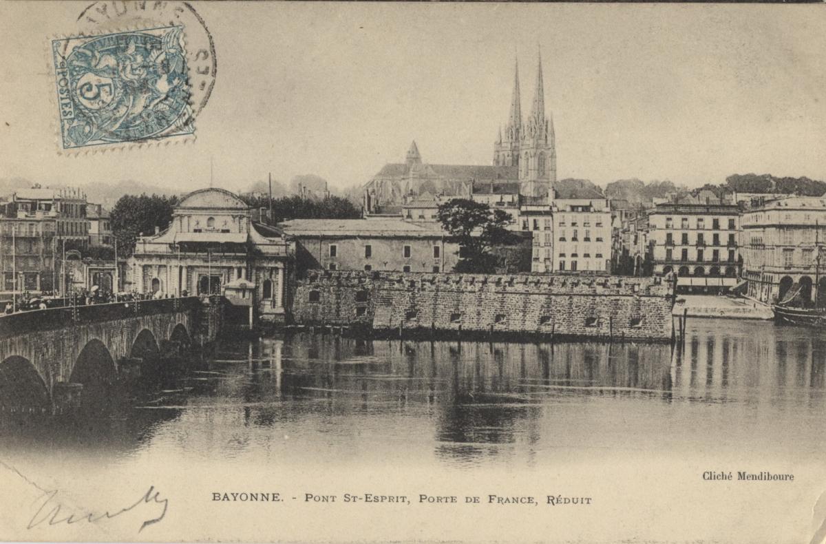 zBon Plan1 La Porte de France et les fortifications du Réduit depuis l'Adour.jpg