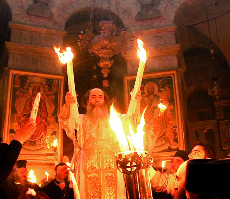 Le feu sacré du Saint-Sépulcre de Jérusalem… et celui qui anime les paroissiens orthodoxes de Biarritz!