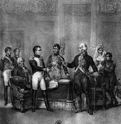 zHistoire1 Charles IV cédant la couronne d'Espagne à Napoléon le 5 mai 1808.jpg