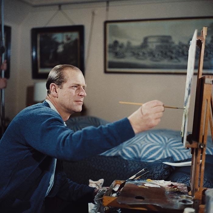 Le duc d'Edimbourg partageait le don artistique des Windsor