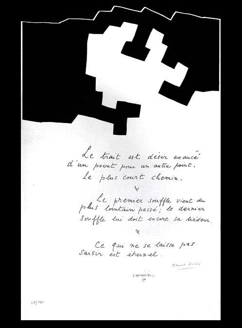 Poème d'Edmond Jabès sur une composition d'Eduardo Chillida