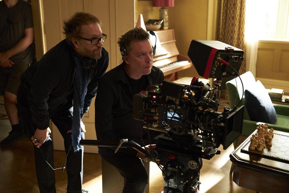 zCinéma1 Florian Zeller avec son directeur photographie Ben Smithard filmant The Father.jpg