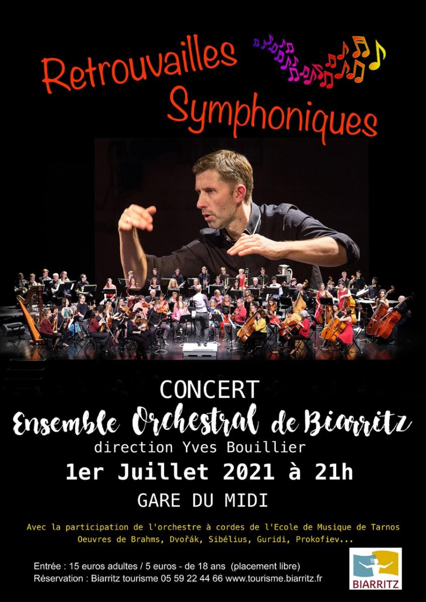 Retrouvailles Symphoniques de l'Ensemble Orchestral de Biarritz: 1er juillet, Gare du Midi