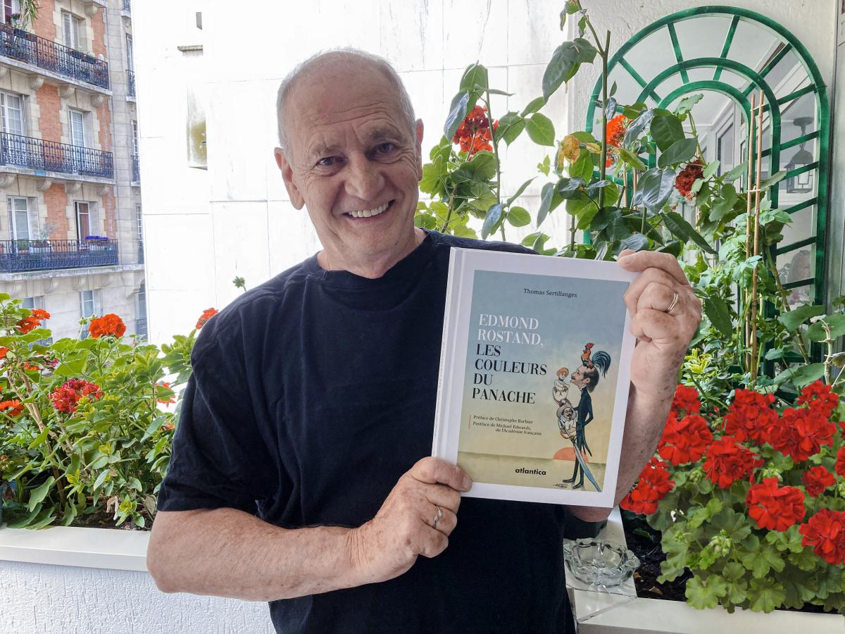 """Cambo : Thomas Sertillanges et son livre sur Rostand au """"Jardin des Livres, Jeunesse et Patrimoine"""""""
