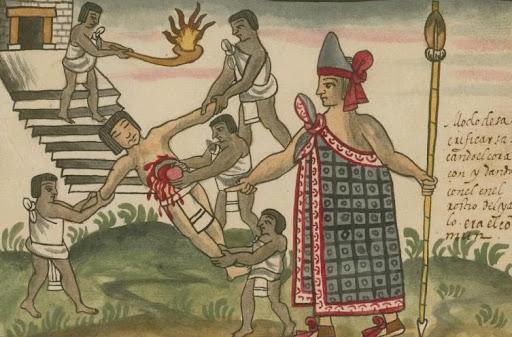 Sacrifice humain, hommage aux dieux Aztèques.jpg