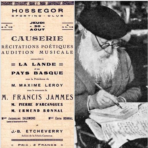 Francis Jammes à Hossegor par Eric Gildard