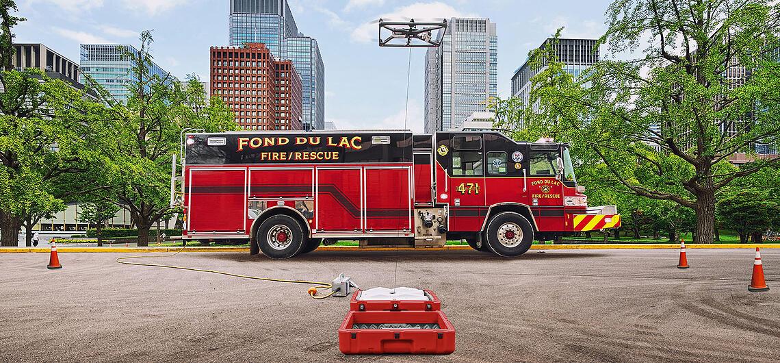 Des drones pour soutenir les pompiers