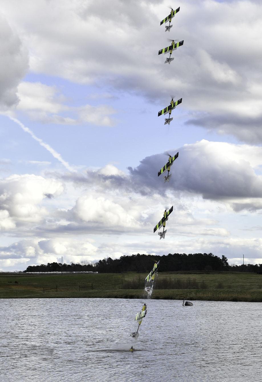 L'EagleRay, un drone volant capable d'aller sous l'eau