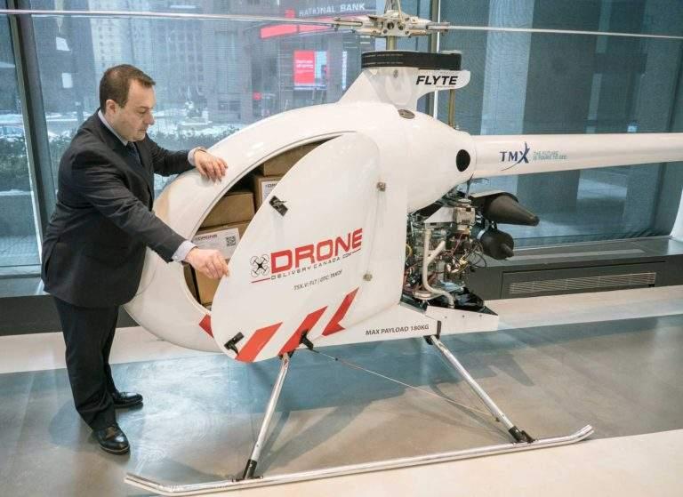 Drone Delivery Canada présente son nouveau drone cargo