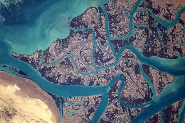 Earth seen from space by Thomas Pesquet: 6) Clarence Strait