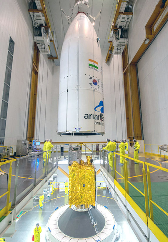 Ariane 5 set to launch Indian, Korean satellites