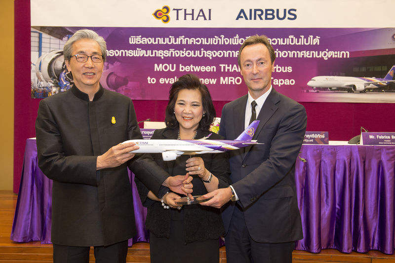 Airbus, Thai Airways to evaluate new MRO facility near Bangkok