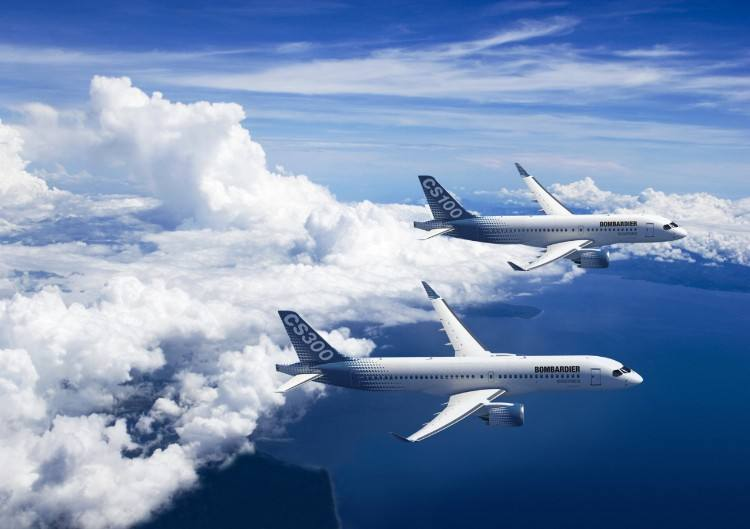 Bombardier obtains same type rating for CS100, CS300