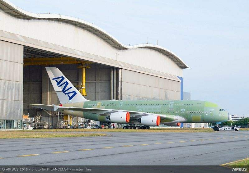 First ANA A380 set for ground testing