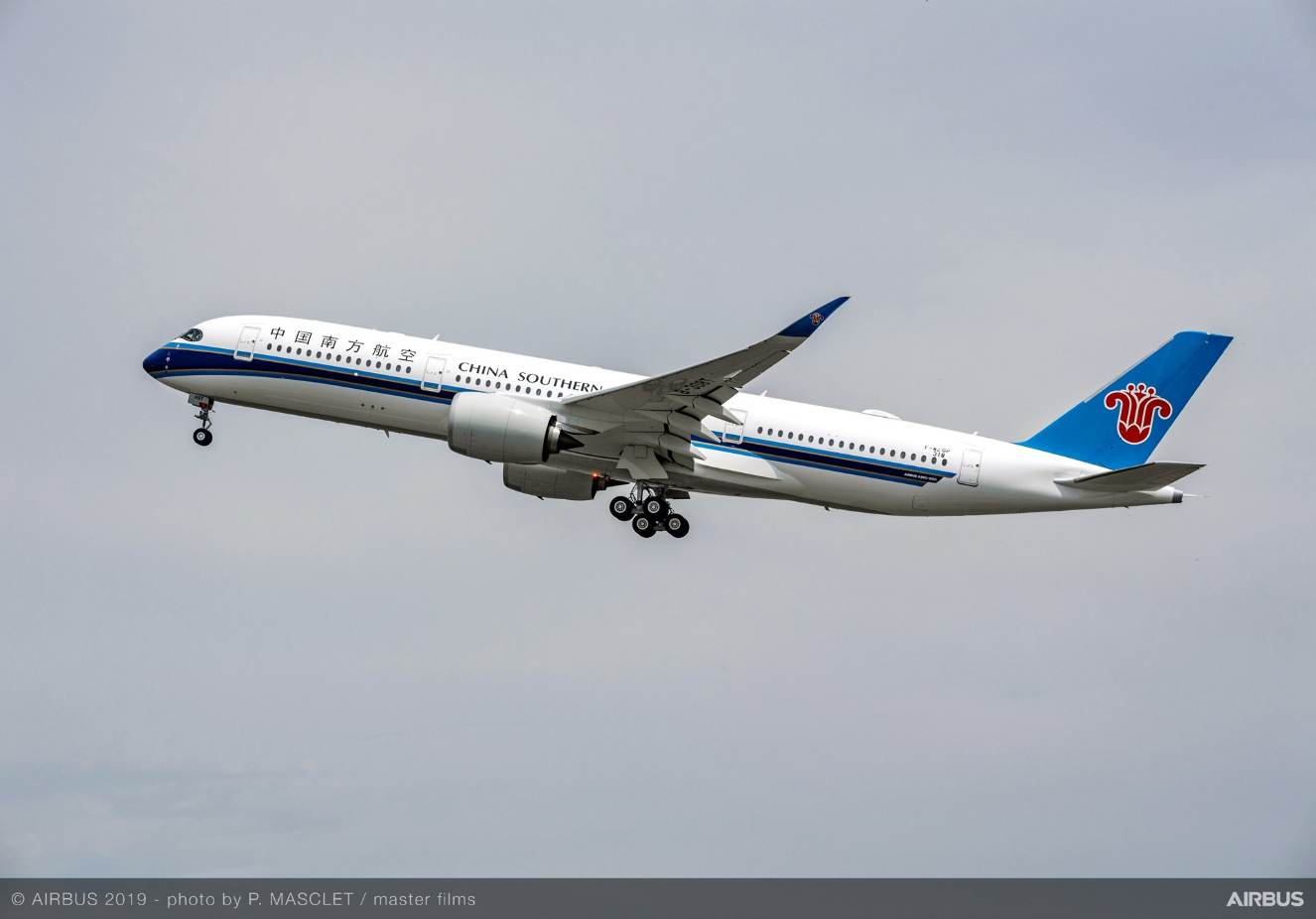 First delivery of an Airbus A350-900 to China Southern Airlines